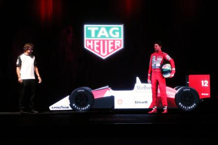 Fernando Alonso and the hologram of Ayrton Senna