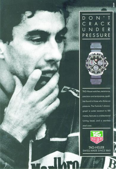 TAG Heuer - Ayrton Senna - 1991 advertising