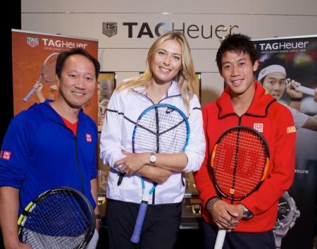 Maria Sharapova, Kei Nishikori (brand ambassadors) and Michael Chang - TAG HEUER @ Julio Piatti