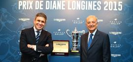 Juan-Carlos Capelli, Vice-President of Longines and Head of International Marketing, and Bertrand Bélinguier, President of France Galop