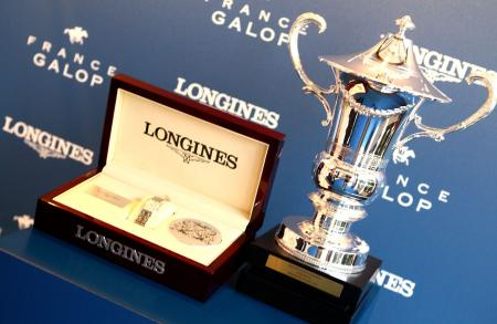 The Longines DolceVita, the Official Watch of the Prix de Diane Longines 2015, and the Trophy of the Prix de Diane Longines