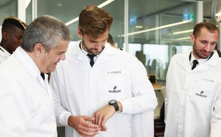 When players of Juventus paid a visit to Hublot