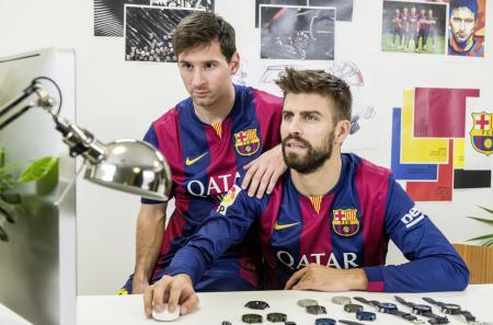 Leo Messi and Gerard Piqué