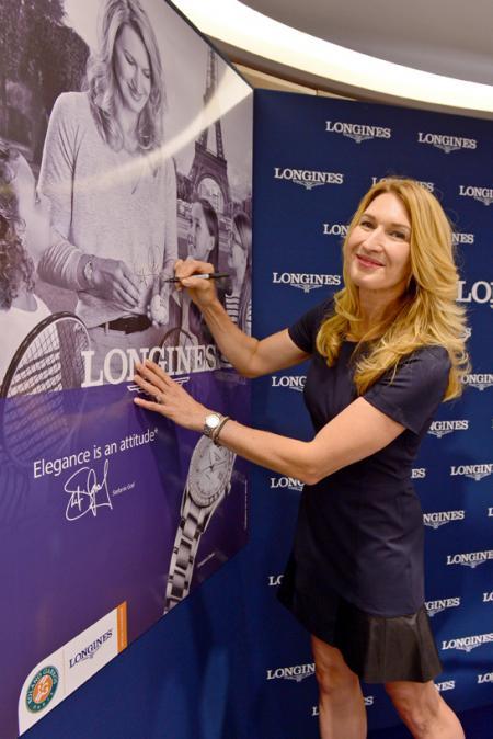 Inauguration of Longines boutique - Steffi Graf