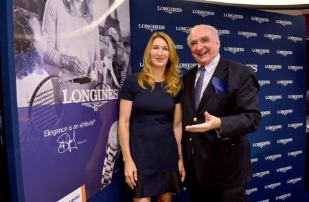 Inauguration Longines boutique - Steffi Graf - Walter von Känel