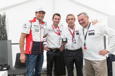 Mark Webber, Romain Dumas, Jacky Ickx and Karl Friedrich Scheufele