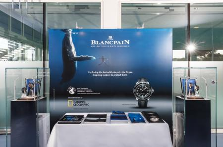 Blancpain's booth during the World Ocean Summit 2015