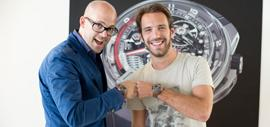 Vincent Perriard, CEO of HYT, and Jean-Eric Vergne