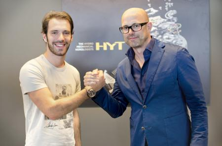 Jean-Eric Vergne and Vincent Perriard, CEO of HYT