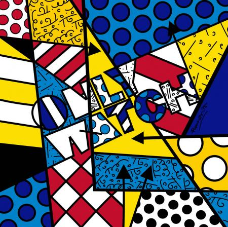 The painting of Romero Britto