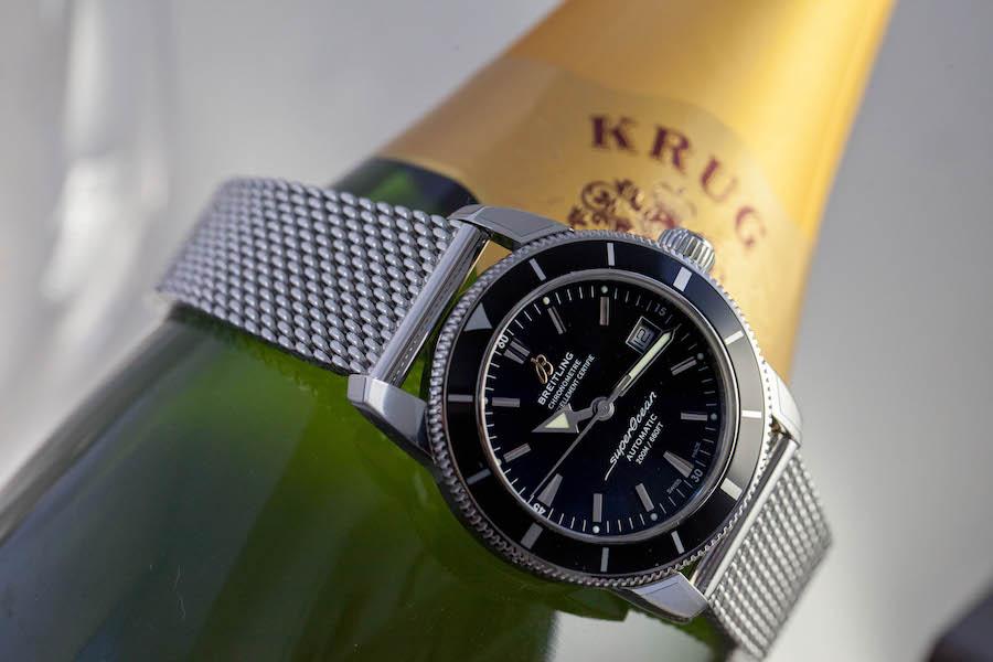 Breitling Superocean Heritage 42 watch - Steel - Blakc Volcano dial - Sefwinding Breitling 17 caliber - Ocean Classic bracelet