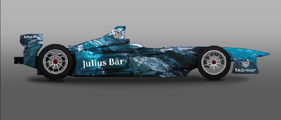 A Formula-E showcar customised by Lapo Elkann and Garage Custom Italia