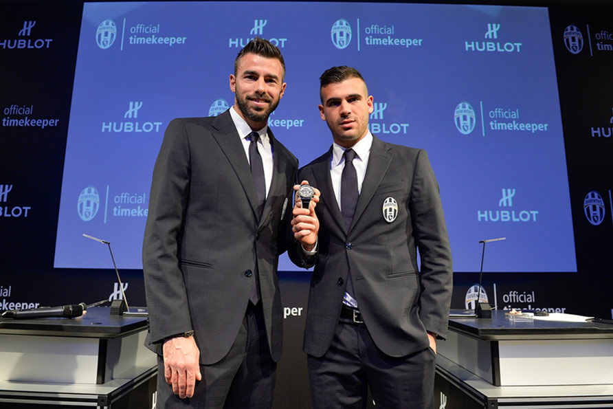 Big Bang Unico Bi-Retrograde Juventus - Andrea Barzagli et Stefano Sturaro ©LaPresse