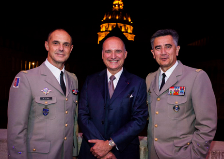 Général Le Ray, Paris Army Governor, Carlos-A. Rosillo Bell & Ross CEO and General Baptiste, Army Museum Director