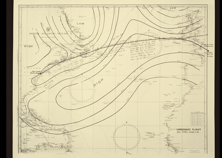 Flight plan of Lindbergh