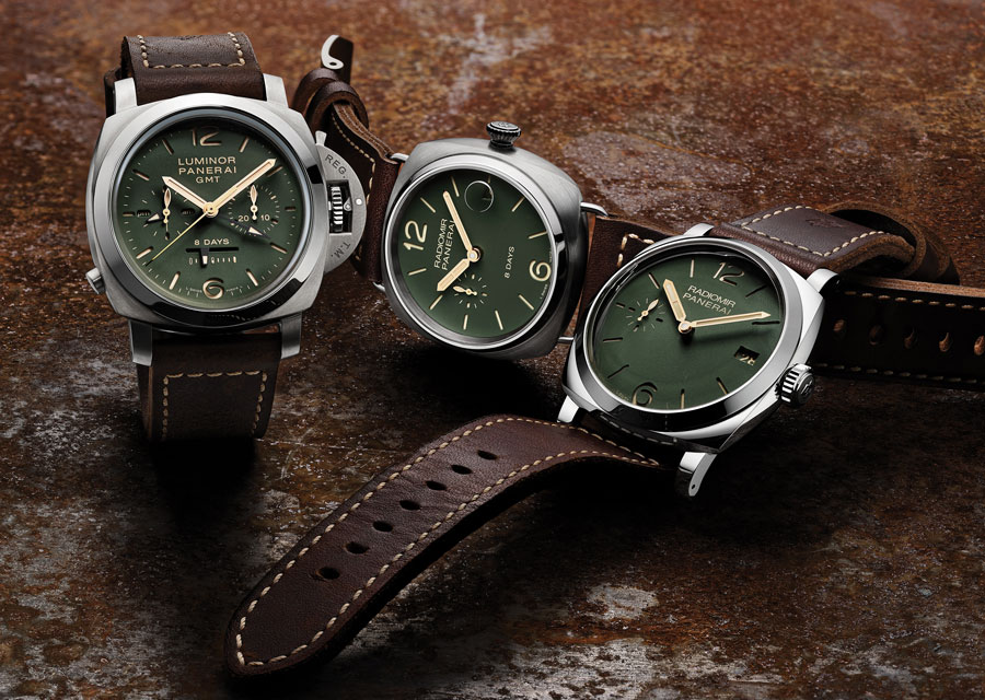 Panerai special editions with green dials