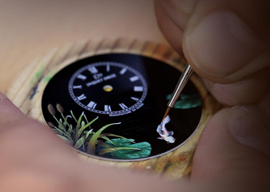 Miniature painting of the Petite Heure Minute Carpes Koï