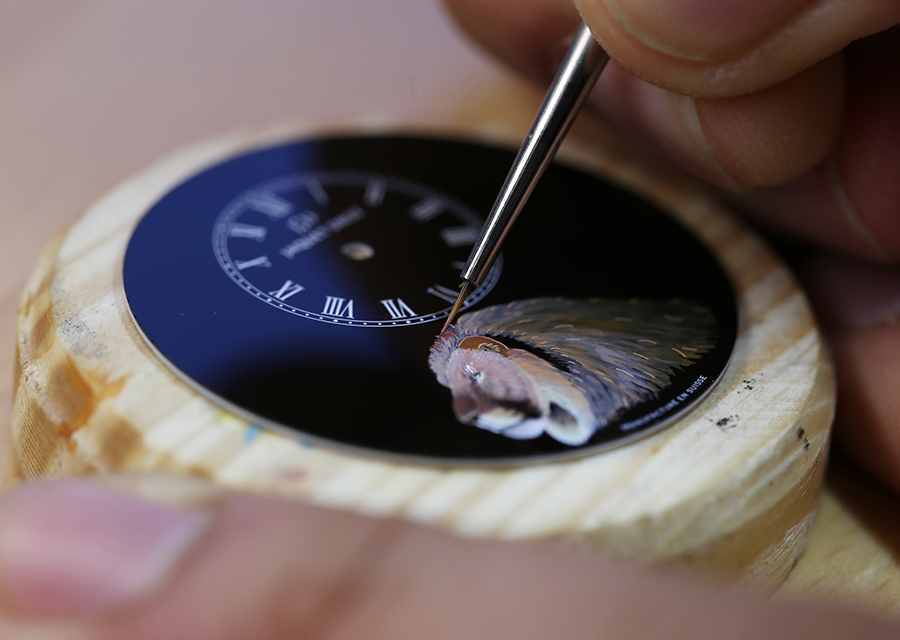 Miniature painting of the Petite Heure Minute Lion