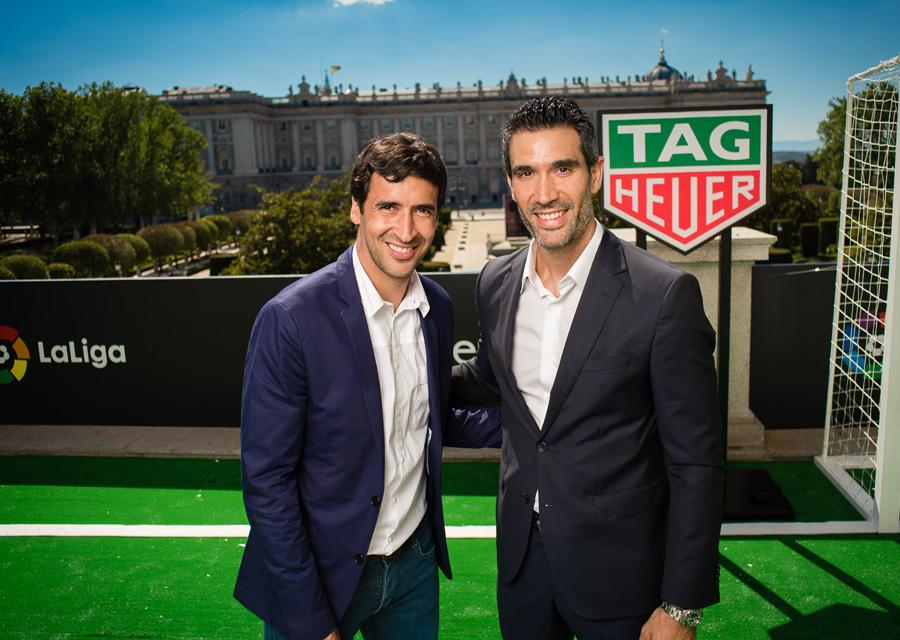 Raul Gonzalez and Fernando Sanz