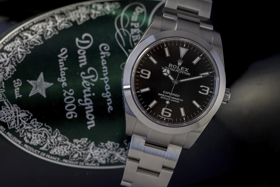 Rolex Oyster Perpetaul Explorer watch - 904L steel - Black dial - Rolex selfwinding movement - Superlative Chronometer certified