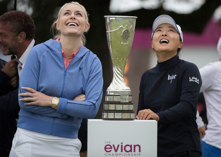 Rolex testimonies Lindsey Vonn and the Evian Championship 2019 winner, Jin Young Ko