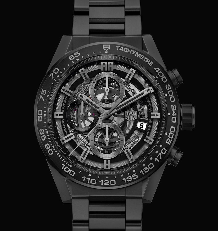 Tag Heuer 01 Carrera Full Black Matt Ceramic