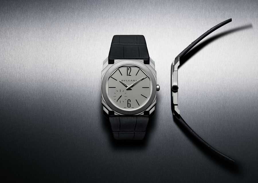 The Octo Finissimo Automatic with a thikness of 5.15 mm only