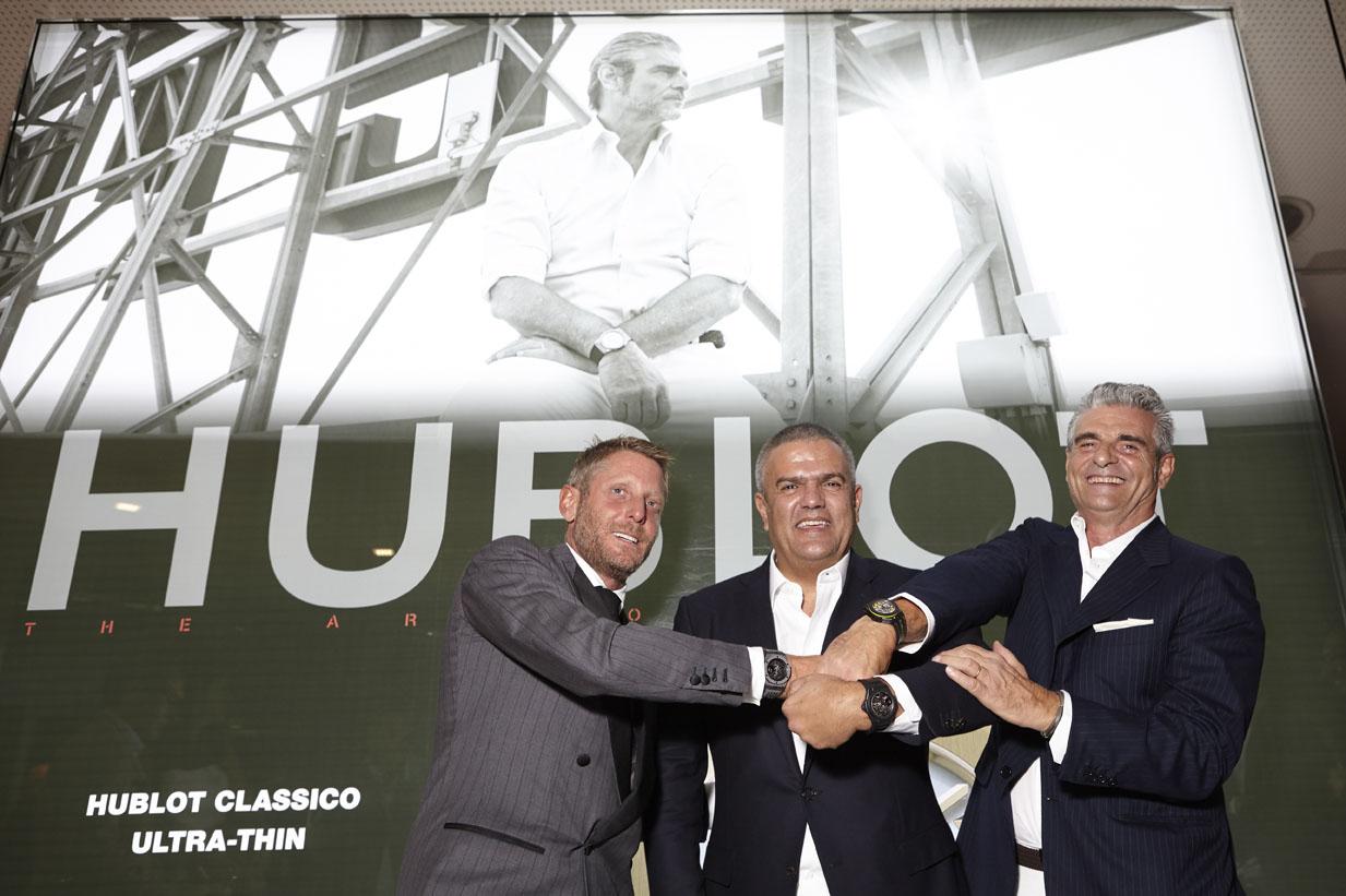 Hublot - Lapo Elkann, Ricardo Guadalupe et Maurizio Arivabene
