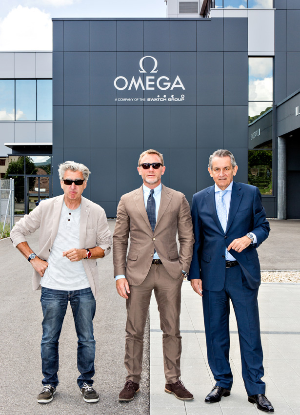 Daniel Craig, Nick Hayek and Stephen Urquhart