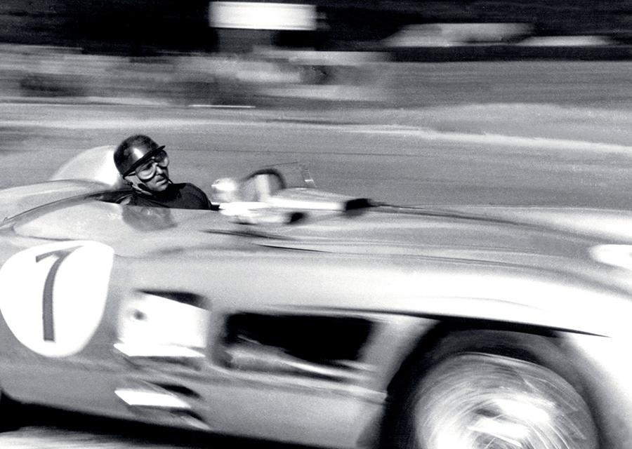 Juan Manuel Fangio driving his Mercedes