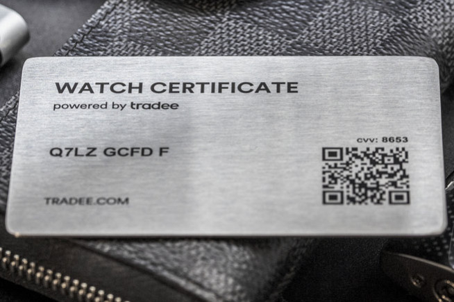 Watch Certificate, the forgery-proof digital passport for timepieces