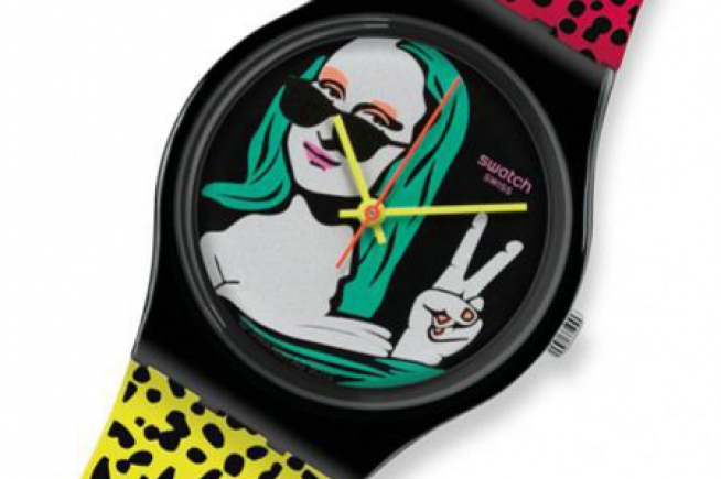 Swatch tarts up the Mona Lisa