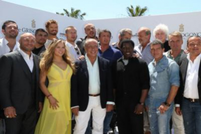 The cast of The Expendables 3 at de GRISOGONO for an action-filled lunch