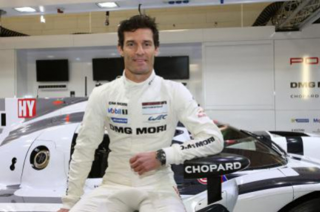 Mark Webber runs for Chopard