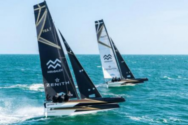 Zenith and Spindrift Racing, winners of the Spi Ouest France regatta