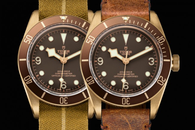 Baselworld 2016, Tudor : a case made of bronze for Heritage Black Bay