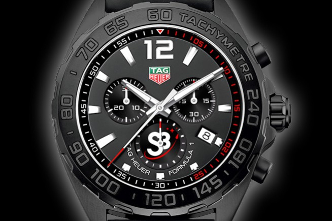 Tag Heuer floating in weightlessness