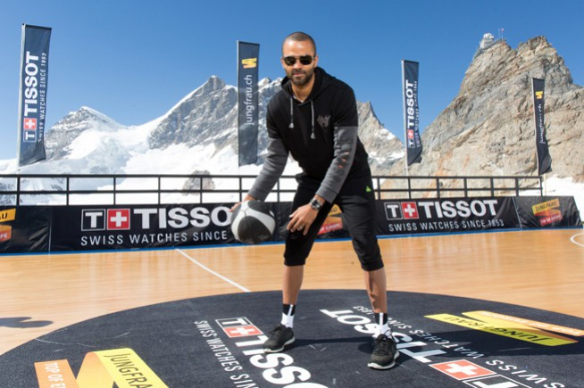 Tony Parker at the top with Tissot
