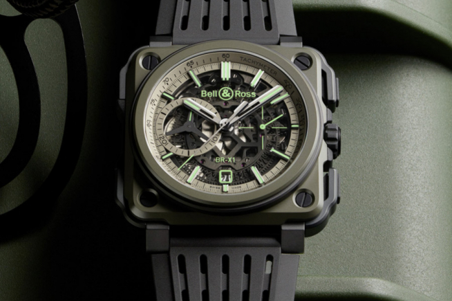 Bell & Ross BR-X1 Military, Chrono Super green