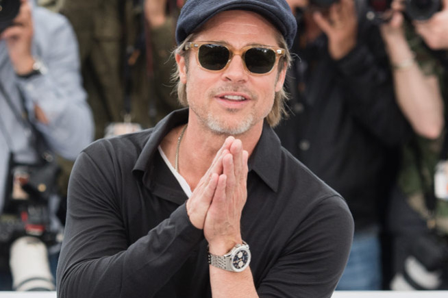 Brad Pitt, on time for the red carpet with Breitling