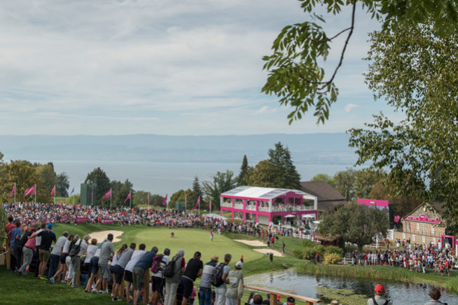 Rolex, on the green of the Evian Championship