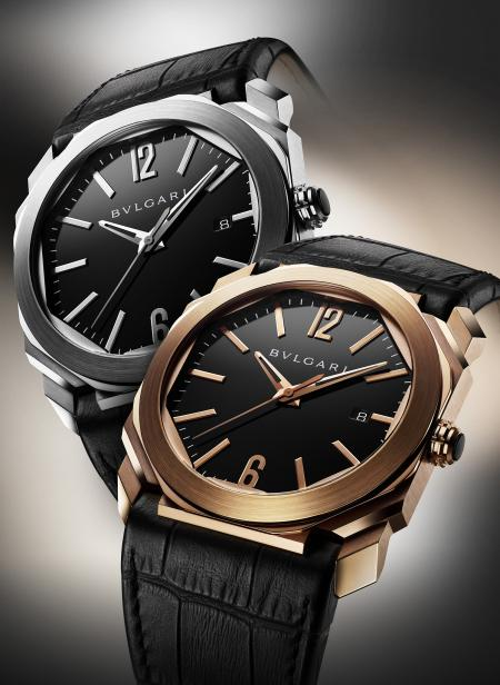Octo of Bulgari - Available with a pink gold or steel case.