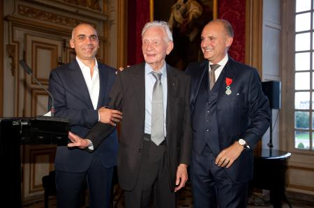 Bruno Belamich, Director of the Creation of Bell & Ross, Helmut Sinn and Carlos-A.Rosillo.