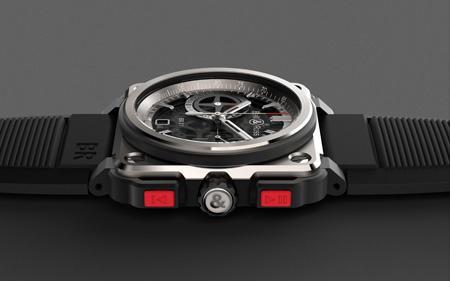 Titanium and ceramic - Rubber bracelet