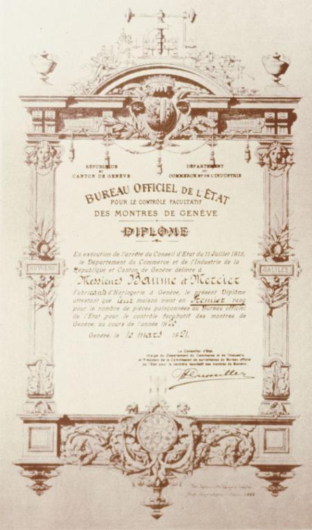 Hallmark of Geneva Award - 1921