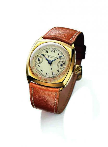 Chronograph watch with mono-pusher and telemeter - 1938