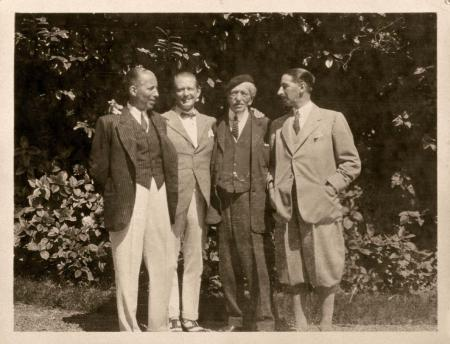 Alfred Cartier and his three sons in 1922
