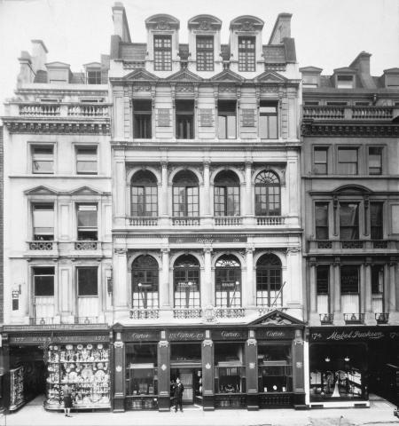 The Cartier boutique in London, in 1909
