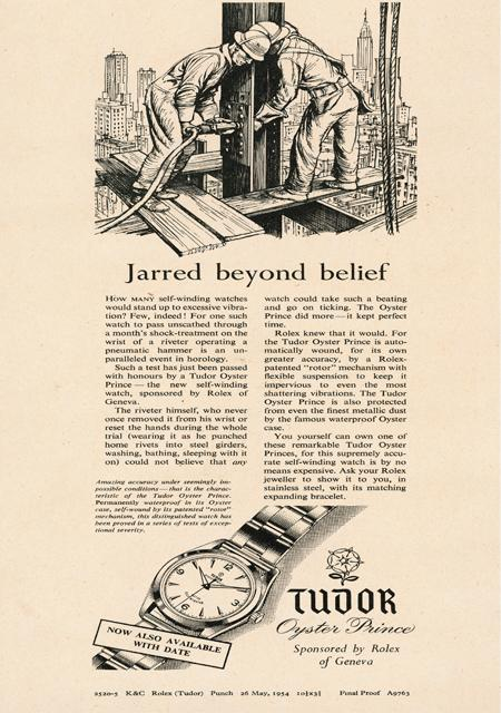 TUDOR advertising - 1954