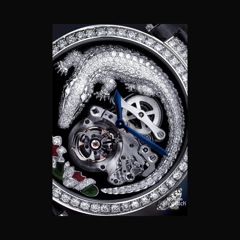 cartier montre tourbillon et crocodile high jewellery collection hpi00414 white gold
